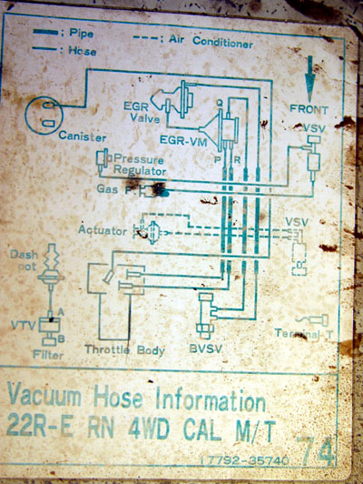 Vacuum Diagram 87 Pickup 70536on 1987 Toyota Pickup Vacuum Line Diagram